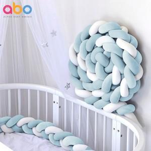 Πάντα Kρεβατιού Πλεξούδα Blue White Abo 3120-500
