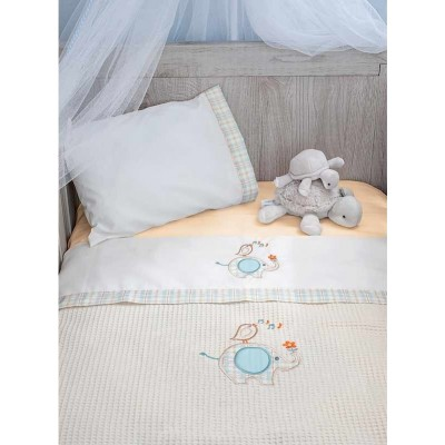Κουβέρτα Πικέ Αγκαλιάς Elephant Baby Oliver 46-6221/140