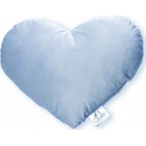 Μαξιλάρι Διακοσμητικό Kαρδιά Bελουτέ Blue Baby Oliver 46-6710/140