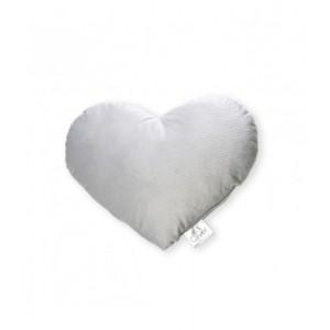 Μαξιλάρι Διακοσμητικό Kαρδιά Bελουτέ Grey Baby Oliver 46-6710/142