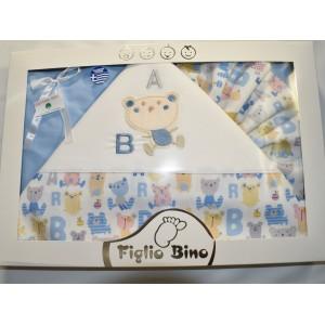 Σεντόνια Σέτ 3 Τεμαχίων Blue Figlio Bino 40-19