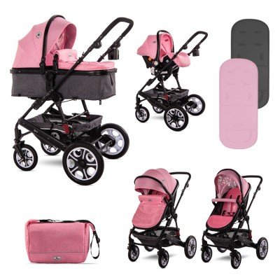 Πολυκαρότσι Lora 3 In 1 Candy Pink Lorelli 10021282189