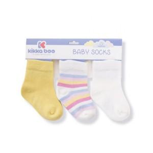 Βρεφικά Καλτσάκια Stripes 0-6M Yellow Κikka Βοο 31110010048