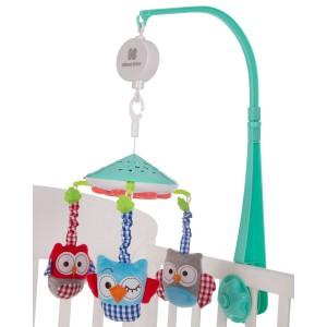 Musical Mobile Projector Owls Mint Kikka Boo 31201010142