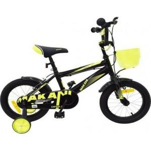 """Παιδικό Ποδήλατο 12"""" Diablo Black-Yellow Makani Kikkaboo 31006040062"""