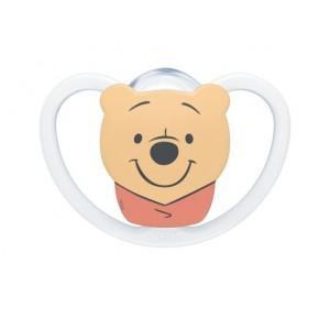 Πιπίλα Disney Winnie The Pooh Σιλικόνης Space 0-6 μηνών Άσπρο Νuk 10730570