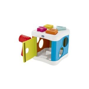 Κύβος Chicco 2 σε 1 με Σχήματα και Σφυρί Y02-09686-00