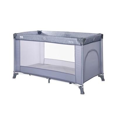 Παρκοκρέβατο Torino 1Layer Silver Blue Lorelli 10080452124