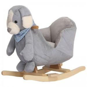 Rocking Toy Grey Puppy Kikka Boo 31201040004