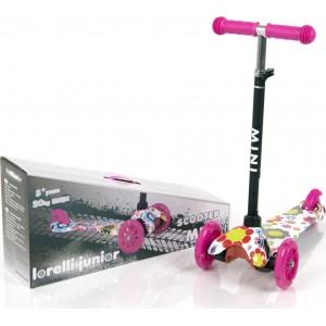 Scooter Mini Pink Flowers Lorelli 10390010001
