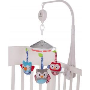 Musical Mobile Projector Owls White Kikka Boo 31201010141