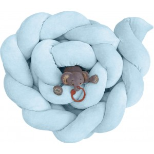 Πάντα Kρεβατιού Πλεξούδα Blue Bελουτέ Baby Oliver 46-6714/1001