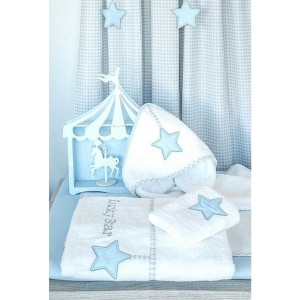Aλλαξιέρα Eπίπλου  Με Σελτεδακι Lucky Star Blue Baby oliver