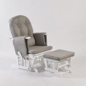 Πολυθρόνα Θηλασμού Sofia Με Σκαμπό Και Ανάκλιση Πλάτης White Neonato W-TF05Τ